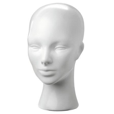 Διακοσμητικό Κεφάλι Γυναικείο Λευκό 30cm