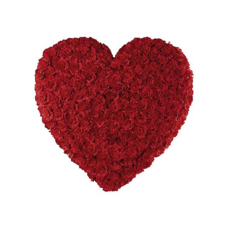Διακοσμητική καρδιά με τριαντάφυλλα, 80cm