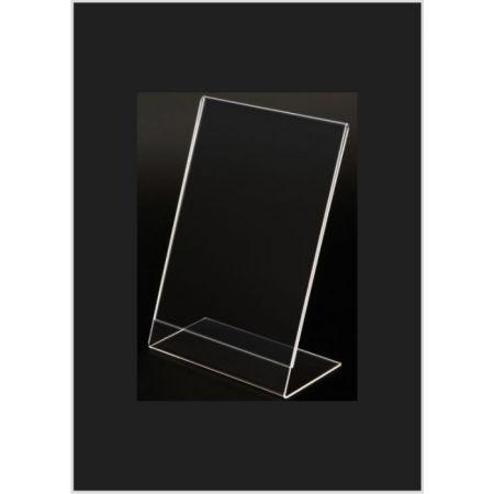 Σταντ εντύπων - τιμών Plexiglass A6 (10x15cm) με κλίση
