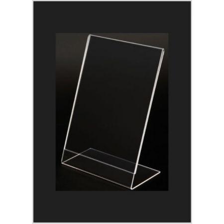Σταντ εντύπων - τιμών Plexiglass B6 (13x18cm) με κλίση