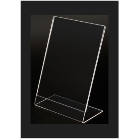 Σταντ εντύπων - τιμών Plexiglass A5 (15x22cm) με κλίση