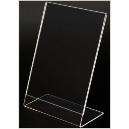 Σταντ εντύπων - τιμών Plexiglass A4 (22x30cm) με κλίση