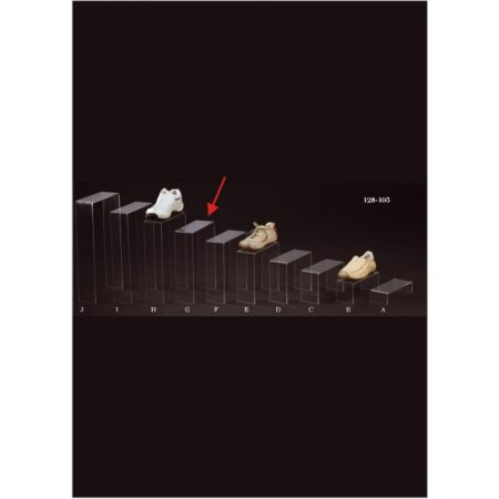 Σταντ Plexiglass για παπούτσια 25x10x35cm