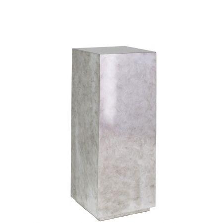 Ανθοστήλη-Βάθρο PANDORA Ασημί 30x30x80cm