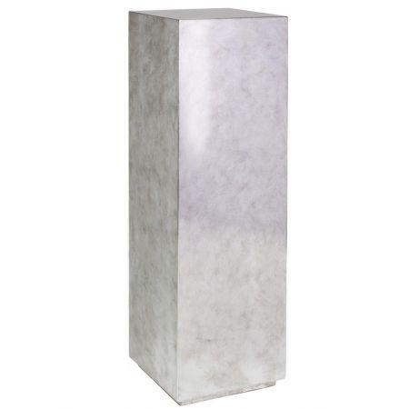 Ανθοστήλη-Βάθρο PANDORA Ασημί 30x30x100cm