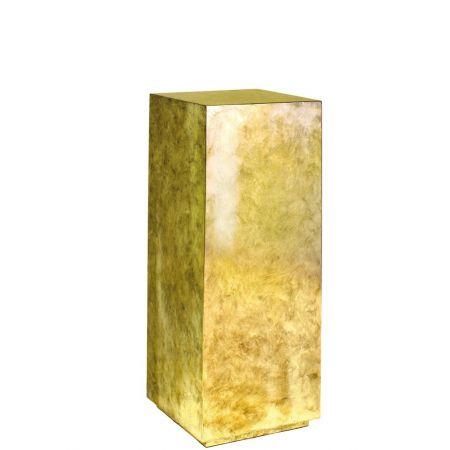 Ανθοστήλη-Βάθρο PANDORA Χρυσή 30x30x80cm