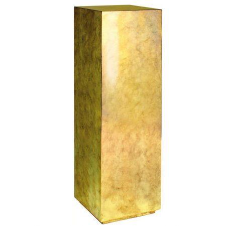 Ανθοστήλη-Βάθρο PANDORA Χρυσή 30x30x100cm