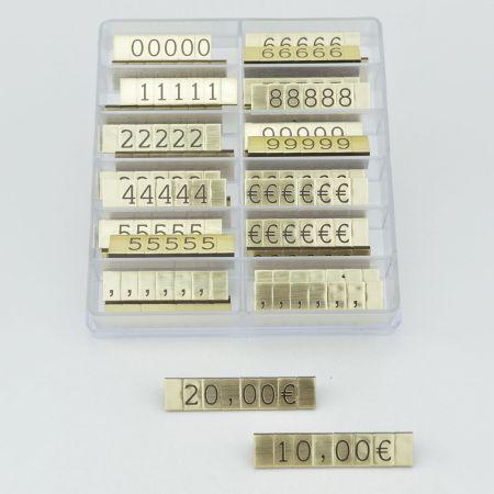 Σετ 252τχ τιμές βιτρίνας 1cm Χρυσό-Μαύρο