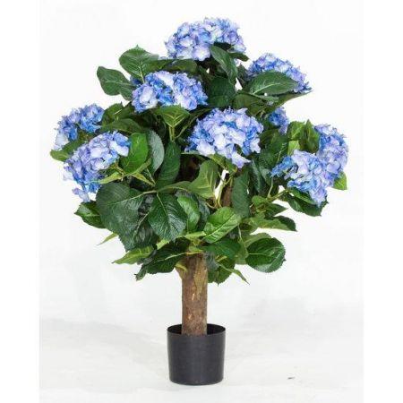 Τεχνητό Φυτό Ορτανσία Μπλε (Hydrangea) 62cm