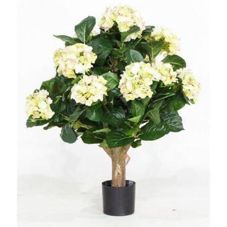 Τεχνητό Φυτό Ορτανσία Κρεμ (Hydrangea) 62cm