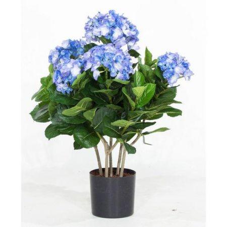 Τεχνητό Φυτό Ορτανσία Μπλε (Hydrangea) 53cm