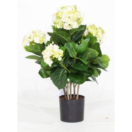 Τεχνητό Φυτό Ορτανσία Κρεμ (Hydrangea) 53cm