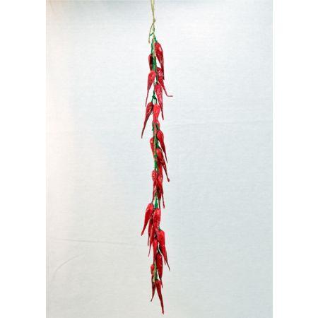 Διακοσμητική αρμαθιά με πιπεριές 60cm