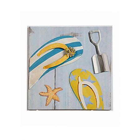 Διακοσμητικός Καμβάς - Κίτρινες Σαγιονάρες 28x28cm
