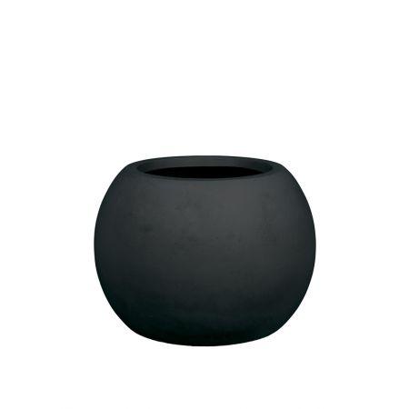 Γλάστρα GLOBE με όψη πέτρας - μπετόν Ανθρακί 60x43cm