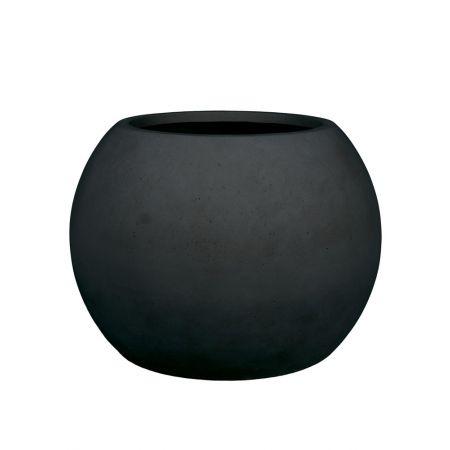 Γλάστρα GLOBE με όψη πέτρας - μπετόν Ανθρακί 80x57cm