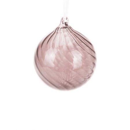 Χριστουγεννιάτικη μπάλα γυάλινη Ροζ  8cm