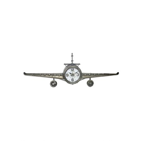 Διακοσμητικό ρολόι τοίχου Αεροπλάνο 143cm