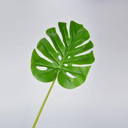Διακοσμητικό εξωτικό φύλλο Μονστέρα Πράσινο 84cm