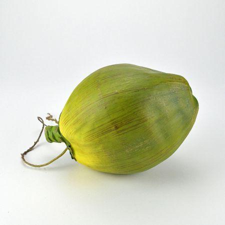 Διακοσμητική καρύδα - απομίμηση Πράσινη 13x21cm