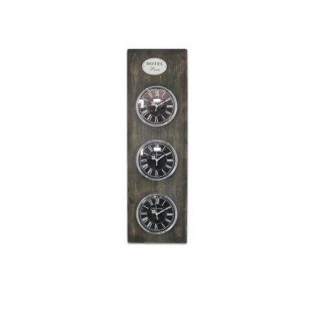 Διακοσμητικό Ρολόι Τοίχου-Τριπλό 23x75cm