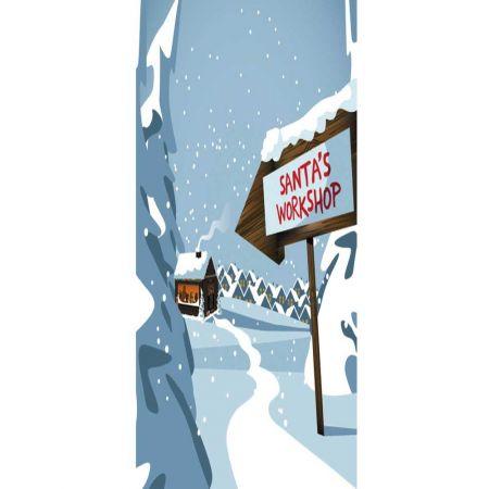 Διακοσμητική Χριστουγεννιάτικη αφίσα -Santa's Factory- 90x200 cm