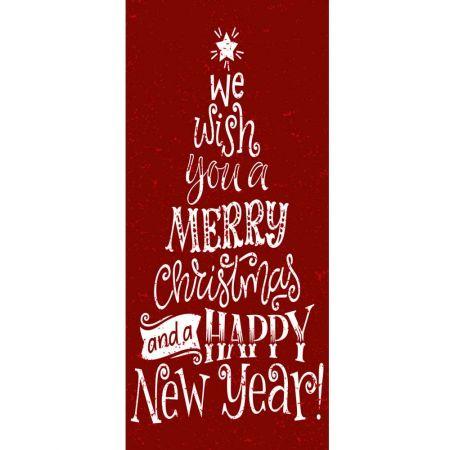 Διακοσμητική Χριστουγεννιάτικη αφίσα -We wish you- 90x200cm