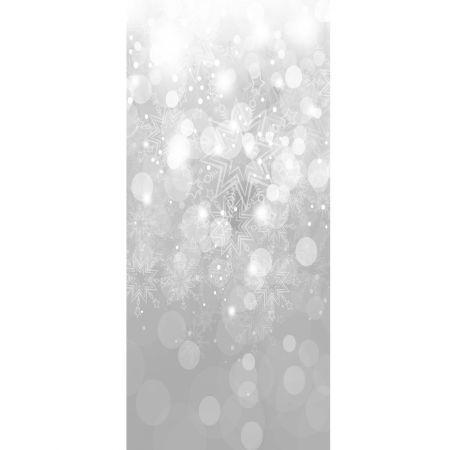 Διακοσμητική Χριστουγεννιάτικη αφίσα - νιφάδες 90x200cm