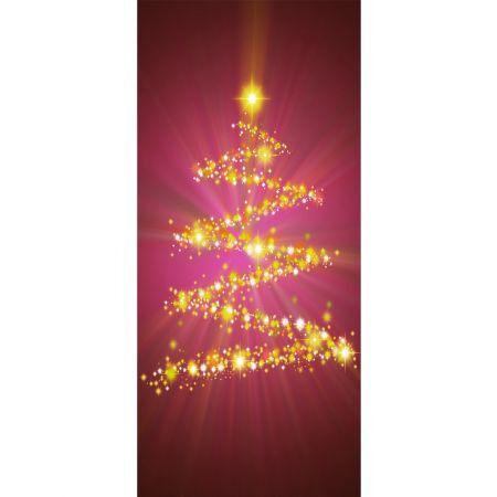Διακοσμητική αφίσα με Χριστουγεννιάτικο δέντρο 90x200cm