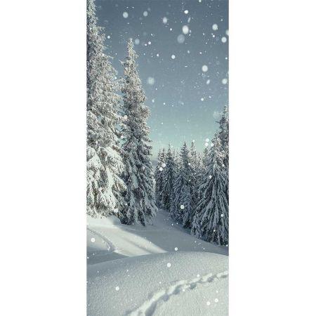 Αφίσα - Banner με χιονισμένο τοπίο 90x200cm