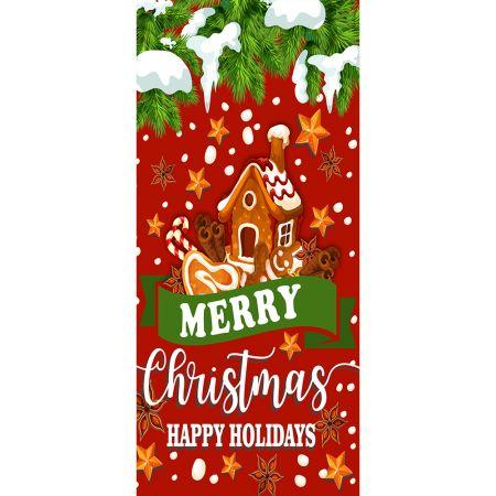 Αφίσα - Banner με Χριστουγεννιάτικο μπισκότο σπιτάκι 90x200cm