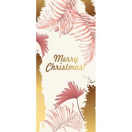 Αφίσα - Banner Χριστουγεννιάτικη με εξωτικά φύλλα 90x200cm