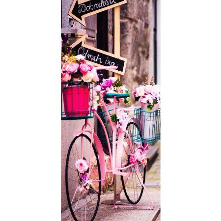 Διακοσμητική αφίσα - Banner με ροζ Ποδήλατο 90x200cm