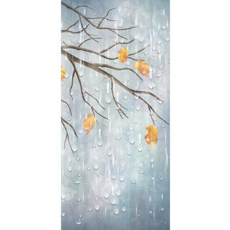 Διακοσμητική  αφίσα φθινοπωρινή με βροχή 90x200cm