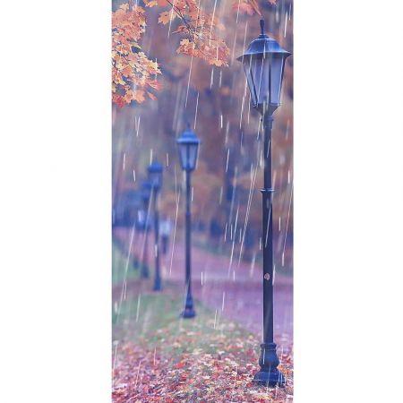 Διακοσμητική αφίσα με Φθινοπωρινό τοπίο βροχή 90x200cm