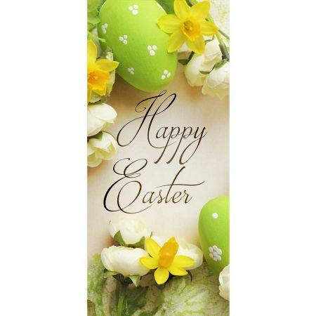 Διακοσμητική αφίσα - Banner αυγά και λουλούδια 90x200cm