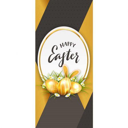 Διακοσμητική αφίσα - Banner HAPPY EASTER Χρυσή 90x200cm