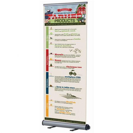 Σταντ δαπέδου πτυσσόμενο - Roll Up Smart για Banner 80x100-220cm