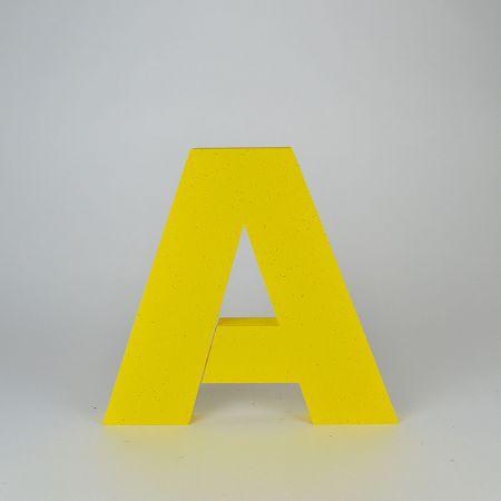 Διακοσμητικό γράμμα A Κίτρινο 29x31x3cm