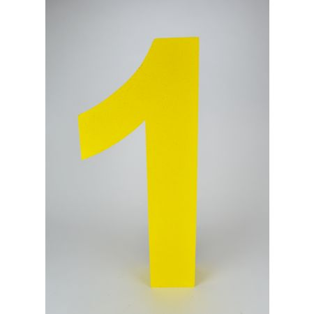 XL Διακοσμητικός αριθμός 1 Κίτρινος 59x25x10cm