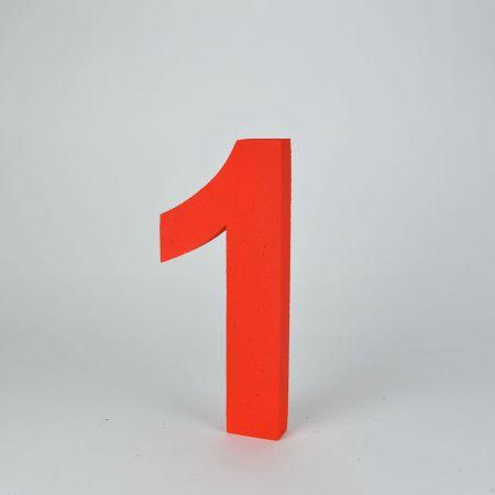 XL Διακοσμητικός αριθμός 1 Κόκκινος 29x13x3cm