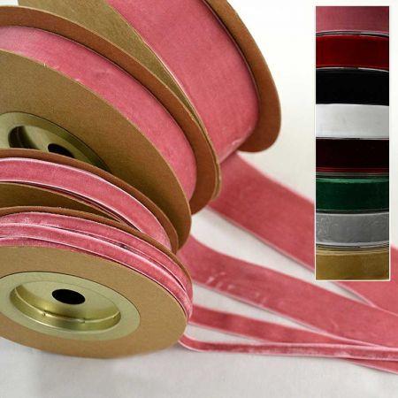 Κορδέλα-Βελούδο PRAGUE 1.2cmx9.1m, κόκκινο