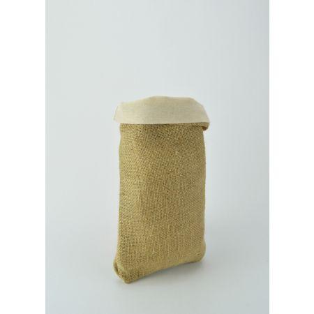 Σετ 2τμχ. Διακοσμητικό Τσουβάλι λινάτσα και λονέτα, 20x30cm
