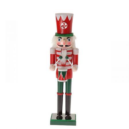 Διακοσμητικός Στρατιώτης - καρυοθραύστης, κόκκινο και πράσινο, 50cm