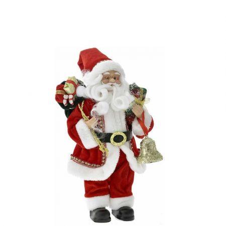 Κλασική φιγούρα - Άγιος Βασίλης με δώρα Κόκκινος 45cm