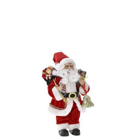 Κλασική φιγούρα - Άγιος Βασίλης με δώρα Κόκκινος 30cm