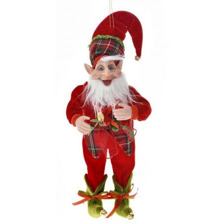 Χριστουγεννιάτικος αρλεκίνος - ξωτικό Κόκκινος 40cm