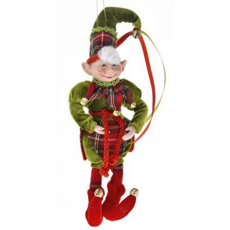 Χριστουγεννιάτικος αρλεκίνος - ξωτικό Πράσινος 30cm