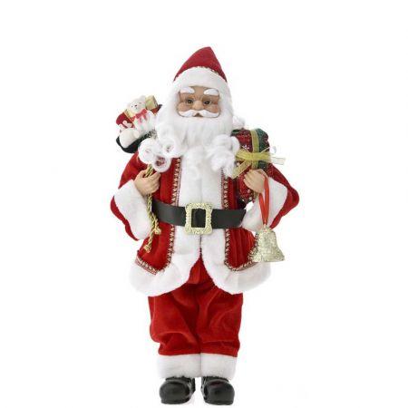 Κλασική φιγούρα - Άγιος Βασίλης με δώρα Κόκκινος 60cm