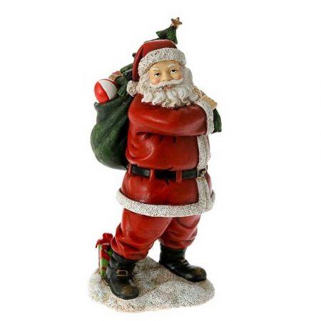 Επιτραπέζιο διακοσμητικό - Άγιος Βασίλης με δώρα Κόκκινος 11x10x22cm